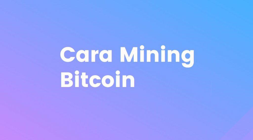 cara mining bitcoin di smartphone dan laptop
